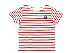 Wood Wood t-shirt Ola offwhite/red stripes
