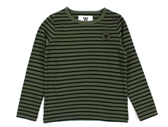 Wood Wood bluse Kim army/black stripes