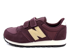 New Balance sneaker burgundy/light brown med velcro