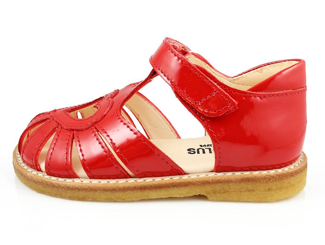 2ef2ea06997c Angulus sandal rød med hjerte