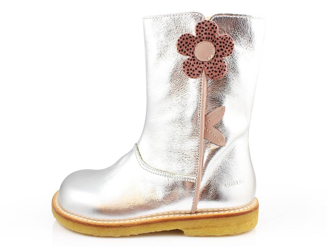 79cede2fa0c Angulus støvle sølv med blomst | 6196 | str. 23-32 | fra Udsalg