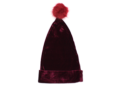 Petit by Sofie Schnoor nissehue dark red velour baby