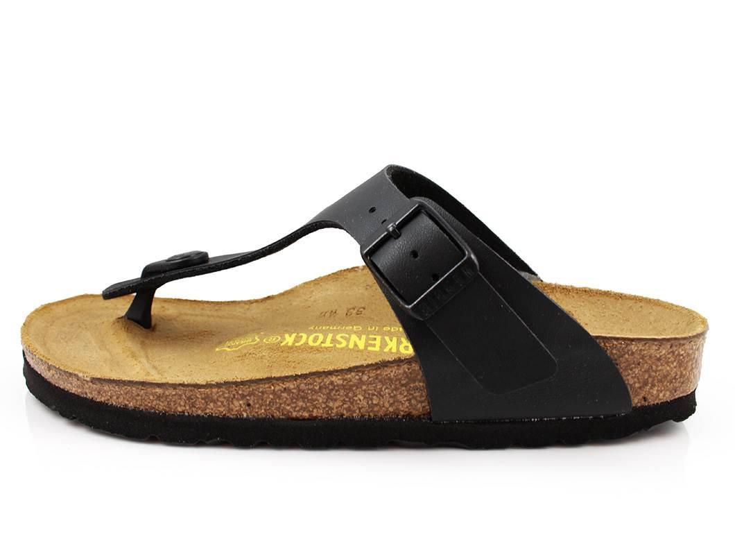 39e6a7ddb448 Birkenstock Gizeh sandal sort med spænde (medium-bred)