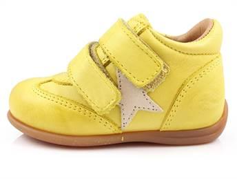 f18e7893 Bisgaard sko gul med velcro | 21410.115.80 Yellow | str. 21-24 | Tilbud