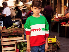 Mini Rodini sweatshirt tutto bene red