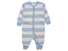 Joha jumpsuit stripe light grey/light blue