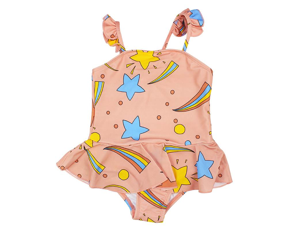 cd5288196cf Mini Rodini badedragt SPACE pink| Mini Rodini badetøj til piger pink ...