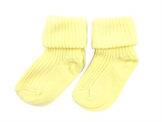MP strømper bomuld light yellow (2-pack)
