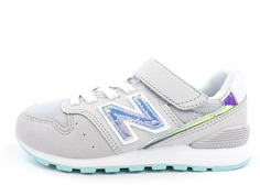 New Balance sneaker gray/light tidepool med velcro