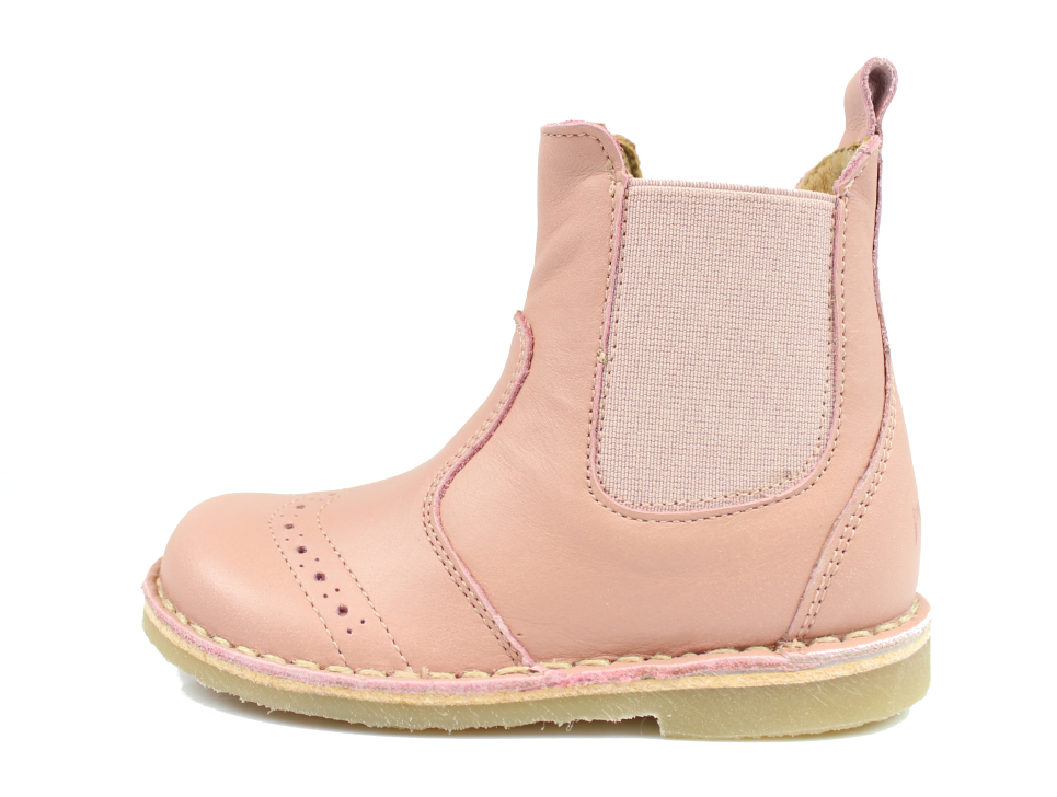 ae730273b08 Pom Pom støvlette rosa læder med lynlås   2410 rose   str. 20-27   UDSALG