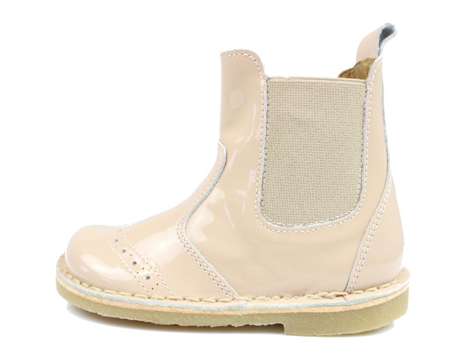 20316047251 Pom Pom støvlette rosa læder med lak og elastik   2410 true nude ...