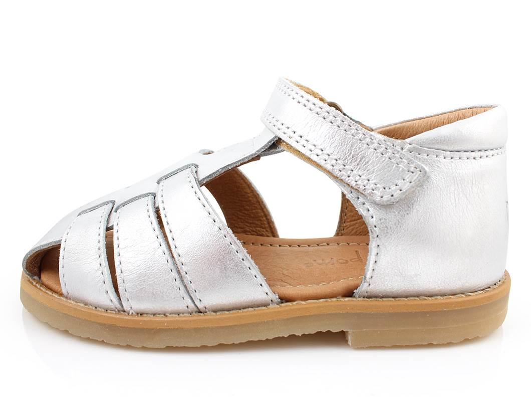 62ea2b75275 Pom Pom sandaler sølv til piger | 161207/11 silver | str. 25-29 ...