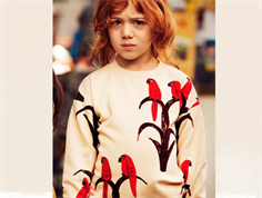 Mini Rodini sweatshirt parrot red